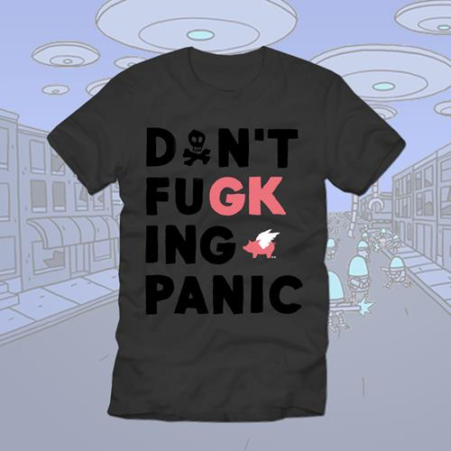 Don't FuGKing Panic Charcoal T-Shirt