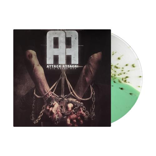 This Means War Half Clear/Half Doublemint With Green Splatter