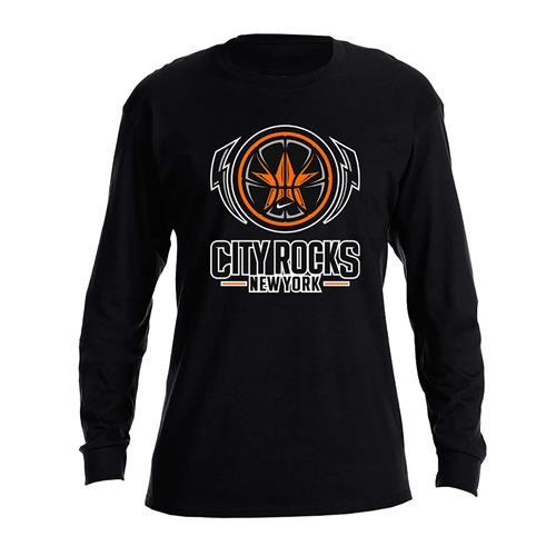 City Rocks NY Logo Black Dry-Fit