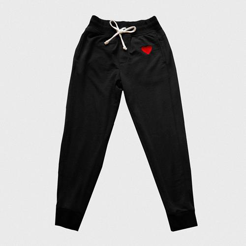 A&B Embroidered Black Joggers