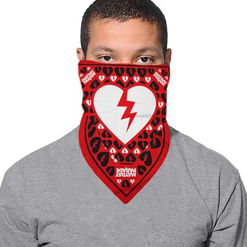 Broken Heart Red Bandana - Face Covering                             $10 and under