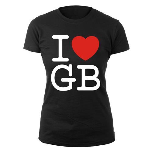 I Love GB On Black