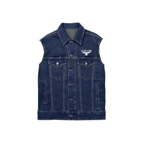 Eagle Embroidered Sleeveless Denim