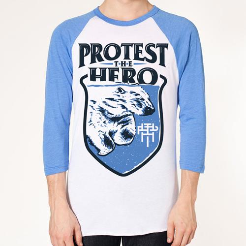 Polar Bear Light Blue/White Raglan Baseball Shirt