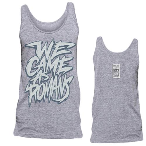 Scratchy Text Heather Gray Tank Top