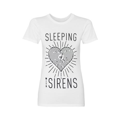 Feel Logo Heart Maze White Girl's T-Shirt