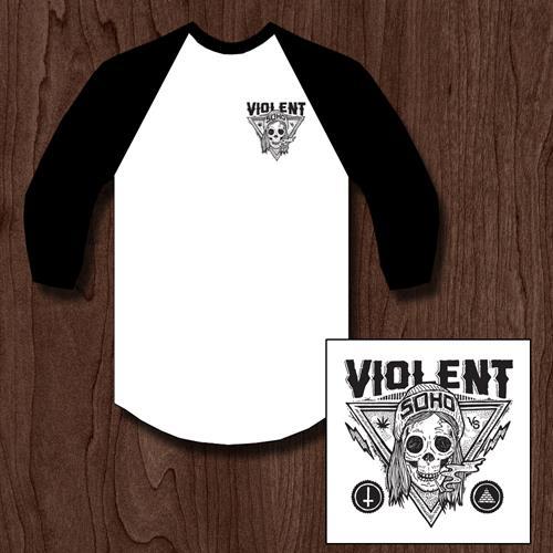 Blazin' Skull Black/White