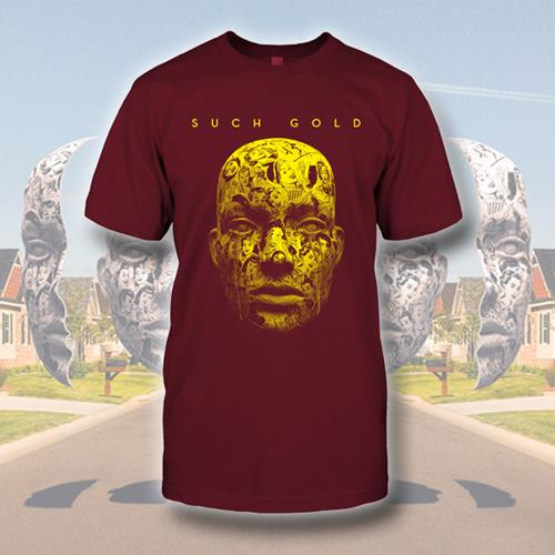 Face Maroon T-Shirt