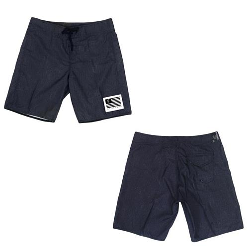 Flag Logo Heather Charcoal Shorts