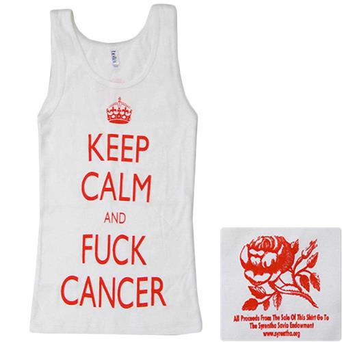 Keep Calm White Girl's Tank Top