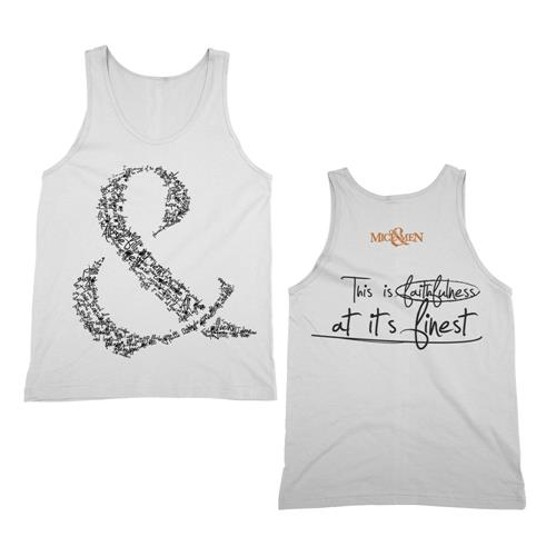 Faithfulness White Tank Top