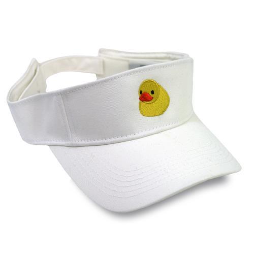 Duckie White Visor