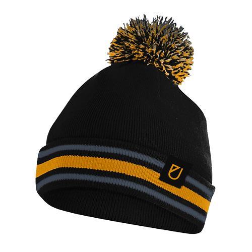 U Logo Black/Gold Winter Pom