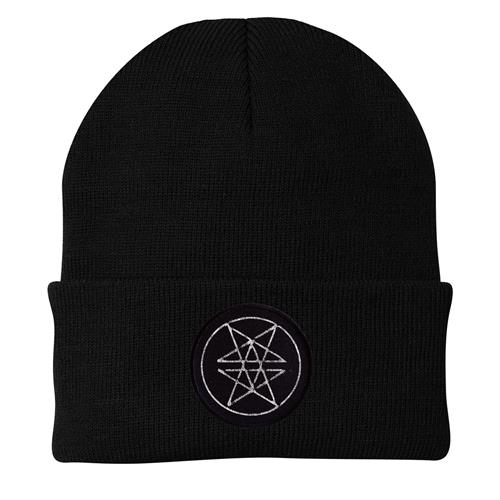 Double Pentagram Patch Black