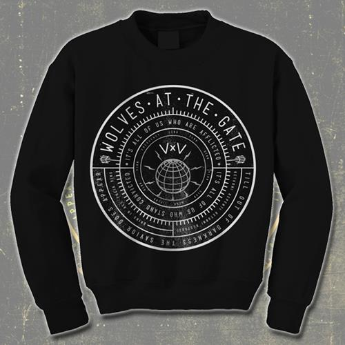 Compass Black Crewneck Sweatshirt