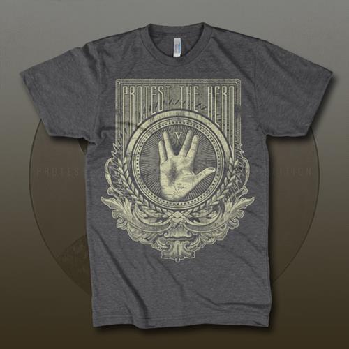 Trek Hand Dark Heather Grey T-Shirt