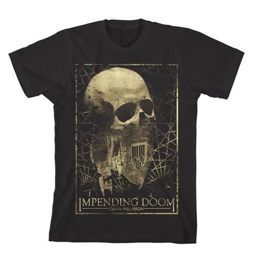 Death Will Reign Skull Black T-Shirt