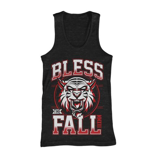 Blessthefall Tiger Black Tank Top