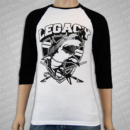 Shark Black/White Baseball Shirt *Final Print*
