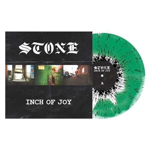Inch of Joy White/Green Smash with Black Splatter
