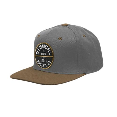 Blessthefall To Those Left Behind Grey W/ Brown Snapback
