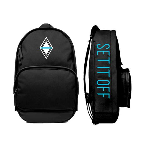 Custom Diamond Black Backpack