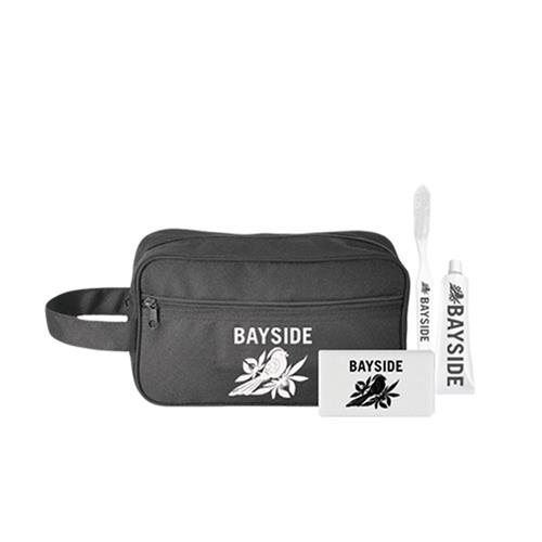 Logo Travel Black Toiletry Kit