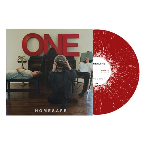 One Blood Red With Cream Splatter