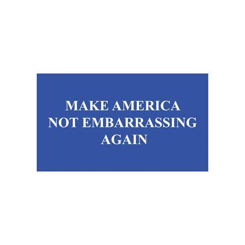 Make america not embarrassing magnet bumper