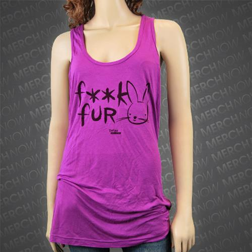 Fuck Fur Purple Tank Top /X-