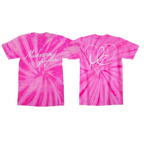 Heart Logo Pink Spider Tie-Dye