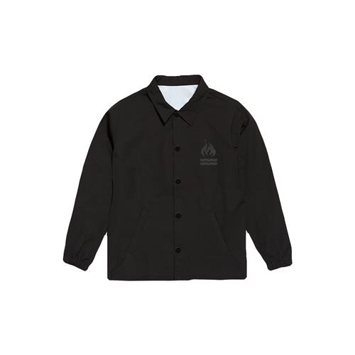 Burning House Black Coach Windbreaker