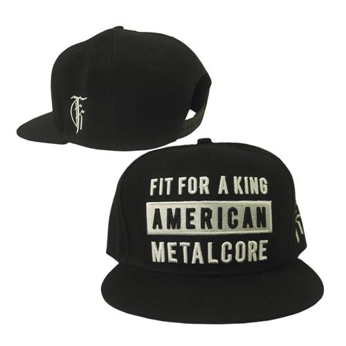 American Metalcore Black Snap-Back Hat