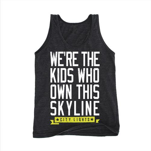 Skyline Tri-Black Tank Top