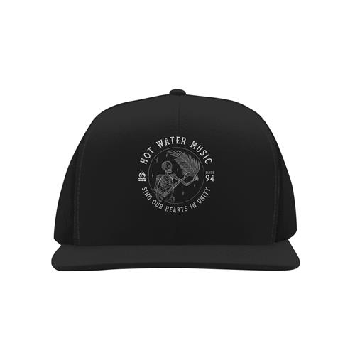 Sing Our Hearts Black Trucker Hat