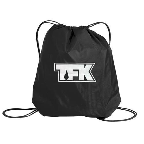 TFK Logo Black Cinch Bag
