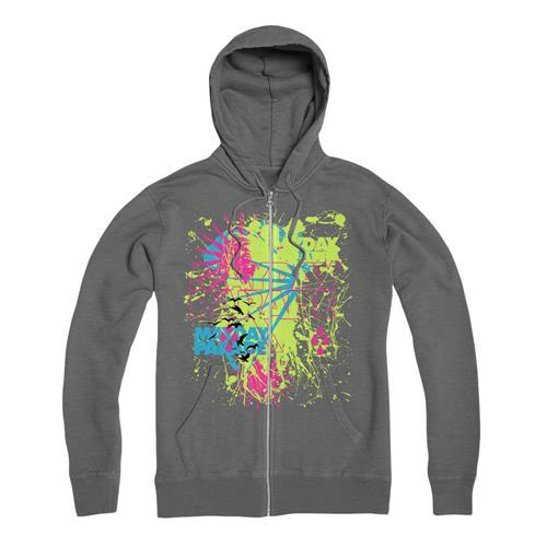 Rain Splat  Grey Zip Hood