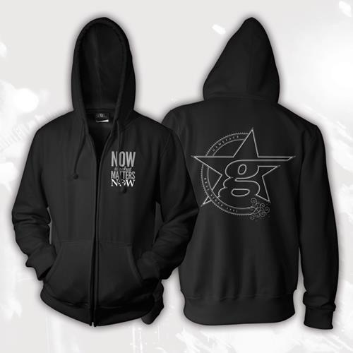 Now Black Zip-Up Sweatshirt