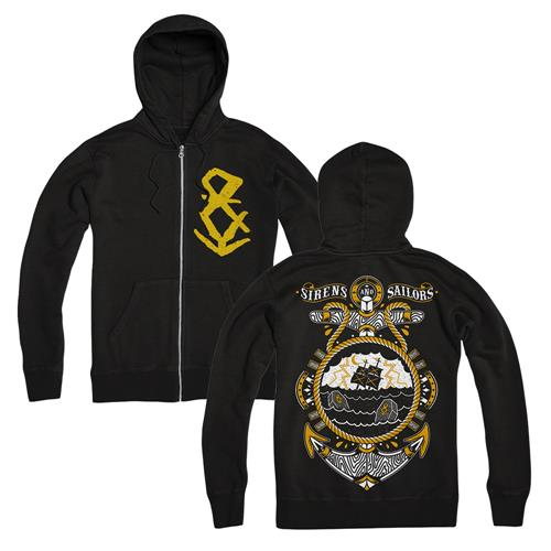 Sinking Ship Black Zip-Up Sweatshirt