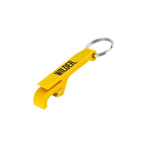 Logo Yellow Keychain Bottle Opener