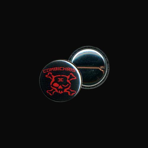 Winking Skull Red Black