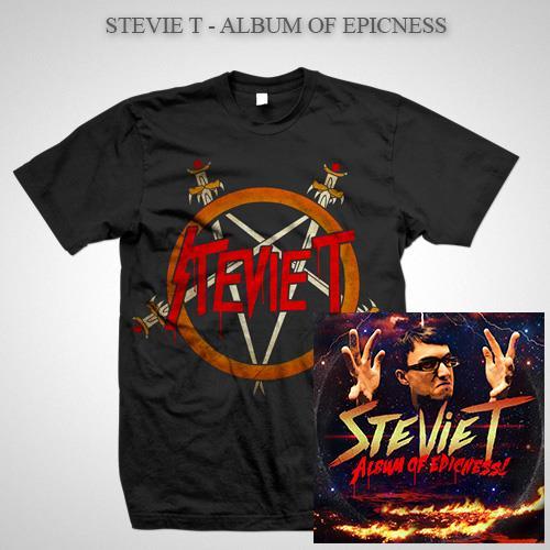 Album Of Epicness Pentagram T-Shirt + Digital Download Bundle