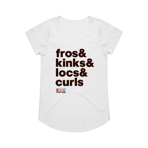 Fros And Kinks White Girl's T-Shirt