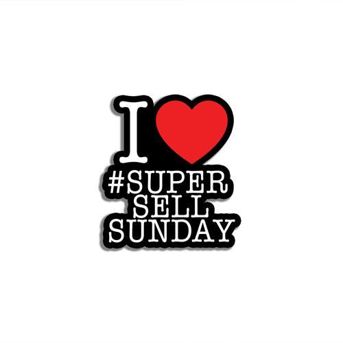 I Love #SuperSellSunday Enamel