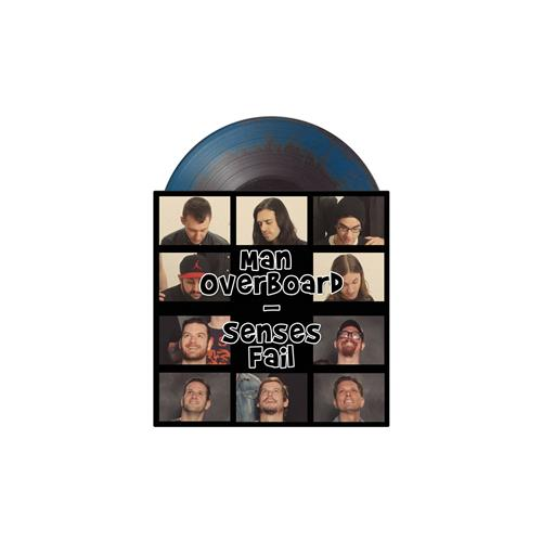 Split Black/Aqua Blue Smash 7 Inch LP