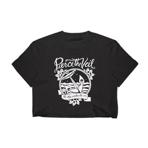 Anchor Black Girl's T-Shirt