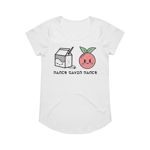 Milk Cherry White Girl's T-Shirt