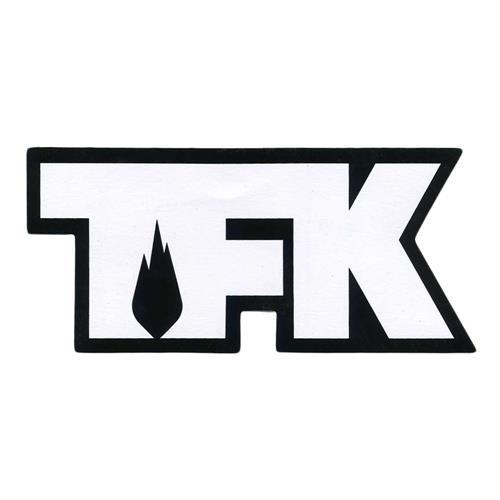 TFK Die Cut White On Black