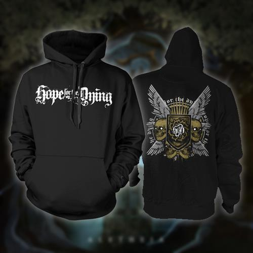 Wings Black Hooded Sweatshirt *Final Print*