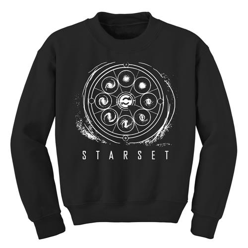 Galaxy Circle Black Crewneck Sweatshirt